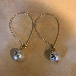 Jewelry - Teardrop Button Vintage Chanel Earrings NWOT
